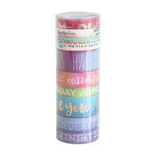 Color Splash Watercolor & Word Washi Tape Tube by Recollections